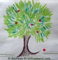 small tree pencil sketch, by www.doorway-to-self-esteem.com