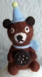 felt toys, wool felt animals, amigurumi, small felt mascot