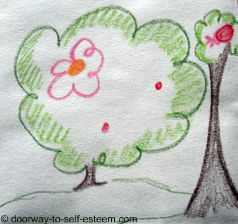 big small tree pencil sketch, by www.doorway-to-self-esteem.com