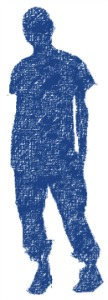 blue boy silhouette, self image, self esteem