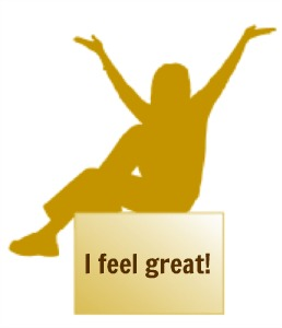 gold girl feel great billboard, non verbal assertiveness