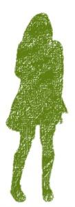 green girl silhouette, non verbal assertiveness