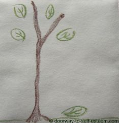 twig tree pencil sketch, by www.doorway-to-self-esteem.com