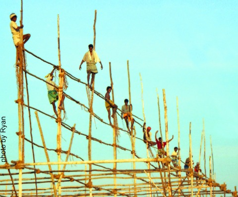 Kanyakumari Construction Workers by Ryan Ready used with permission, work, service, personal power, community