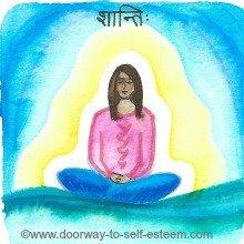 deep rest, meditation, peace, shanti, www.doorway-to-self-esteem.com