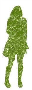 green girl silhouette, physical self esteem, body image