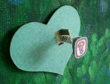 green heart with question mark side view, copyright www.doorway-to-self-esteem.com, understanding emotions