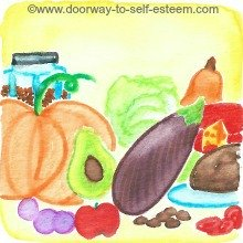 nutrition, food, nutrients, www.doorway-to-self-esteem.com