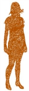 orange girl silhouette, body image, physical self esteem