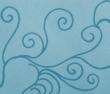 peace calm turquoise 110x94