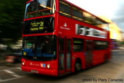 red bus by Piers Canadas used with permission, london bus